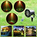 Laser Lights, Red and Green Outdoor/garden/lawn Waterproof Ip65 Star Projector Holiday Light Garden Light Tree Firefly Landscape Laser Light with Wireless Remote Control (20 in 1)