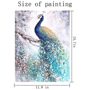 Dylan's cabin DIY 5D Diamond Painting Kits for Adults,Full Drill Embroidery Paint with Diamond for Home Wall Decor(peacock/16x12inch) (Color: peacock 1)