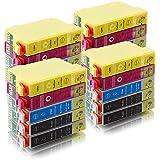 ms-point® 20 kompatible Druckerpatronen für Epson Epson Stylus S22 / SX125 / SX130 / SX230 / SX235 W / SX420 W / SX425 W / SX430 W / SX435 W / SX440 W / SX445 W / Office BX 305 F / BX 305 FW / BX 305 FW Plus Patronen kompatibel zu T1281 T1282 T1283 T1284