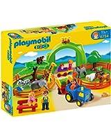 Playmobil - 6754 - Jeu de construction - Coffret Grand zoo 1.2.3