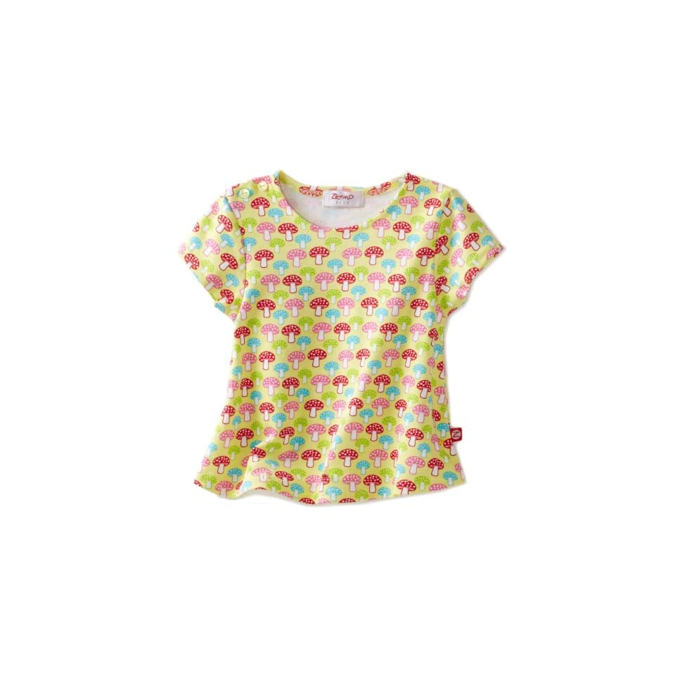 Zutano Baby Girls Mushrooms Swing Tee, Celery, 24 Months