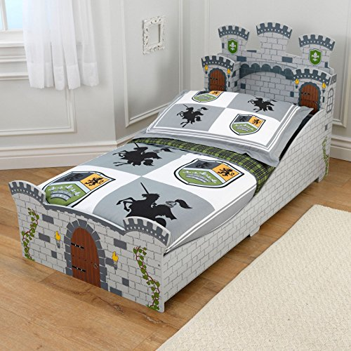 avec miroir Château médiéval Junior lit pour bébé + Entièrement Matelas à ressorts