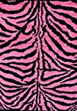 Shag Zebra Pink 5'2x7'2 Modern Area Rug Carpet Large New