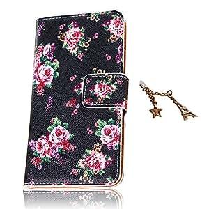 Fleur Série reproductions cas PU pour Samsung Galaxy I9190 S4Mini