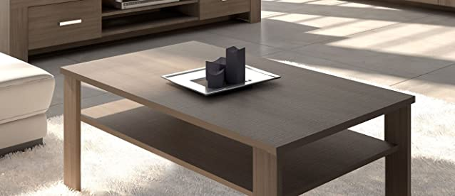 Tavolo basso per salotto modello MAX colore Olmo Eclisse cm L125