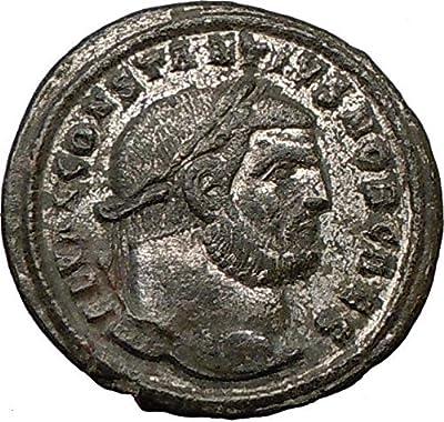 CONSTANTIUS I Constantine the Great Dad Ancient Roman Coin Nude GENIUS i22384