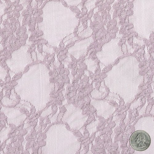 58 mauve daffodil flower design stretch lace fabric by the b