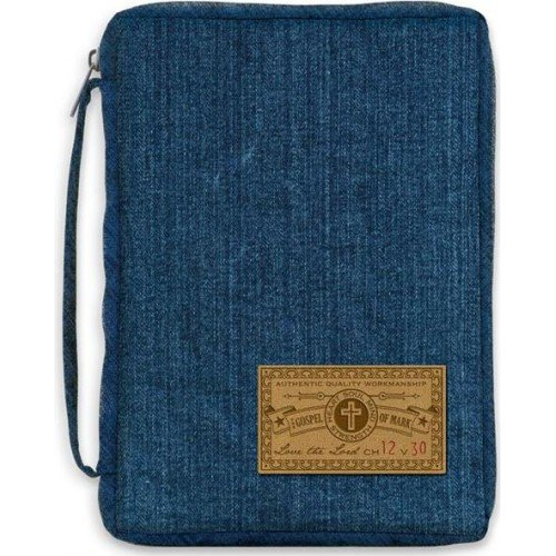 Denim Bible Cover X-Large XL Blue Gregg Gifts 4032677 Love the Lord Mark (Gregg Gift Company compare prices)