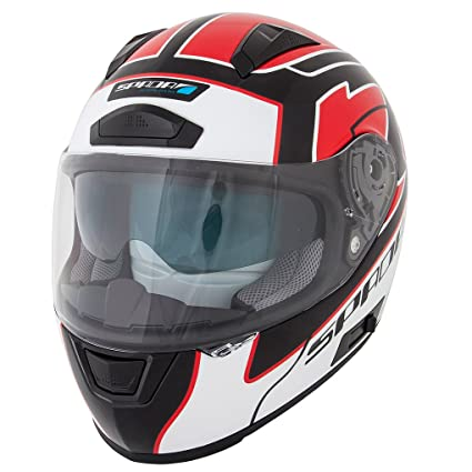 Spada moto casque Arc Puzzle blanc/rouge/noir