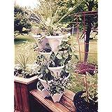 5-Tier Stackable Strawberry, Herb, Flower, Vegetable Planter - Vertical Gardening Indoor/Outdoor Stacking Garden Pots