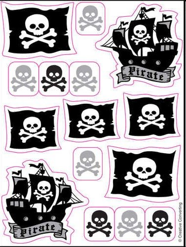 Pirate Party Sticker Party Favors - 1
