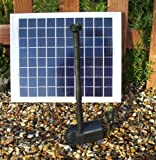 Bradshaws Solar 800 Solar Fountain Pump with Solar Panel, Spray and Bell Jet fountain heads.