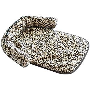 coussin matelas corbeille panier lit canap lavable pour chien chiot chat couleur l opard neuf. Black Bedroom Furniture Sets. Home Design Ideas