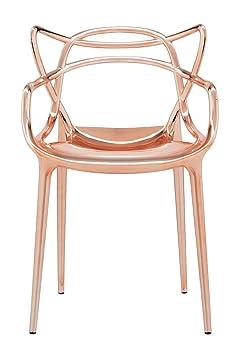 Kartell Precious Metallic Chrome Masters Chair by Philippe Starck