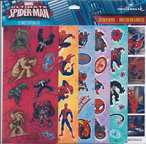 Spiderman Large Sticker Bags