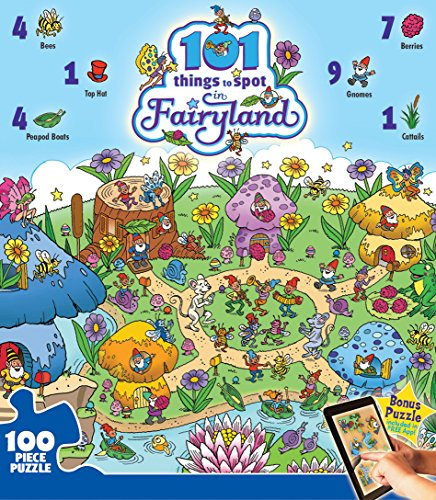 Masterpieces 101 Things to Spot in Fairyland Jigsaw Puzzle (24-Piece)