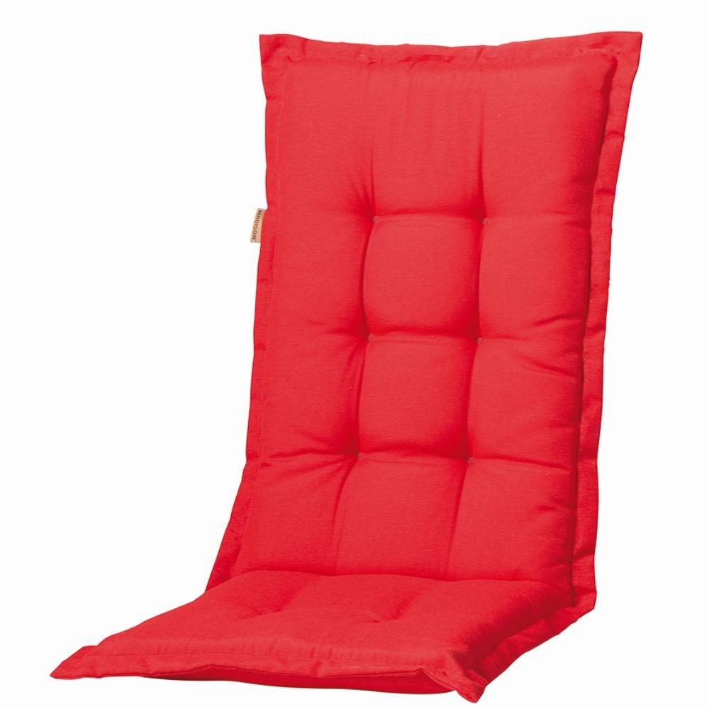 4 Stück MADISON Dessin Panama Garten-Bankauflage, Sitzauflage, 75% Baumwolle, 25% Polyester, 110 x 48 x 8 cm, in rot online bestellen