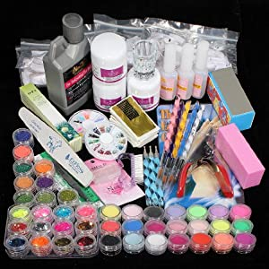 Amazon Com 42pc Acrylic Powder Nail Art Tips Starter Kit
