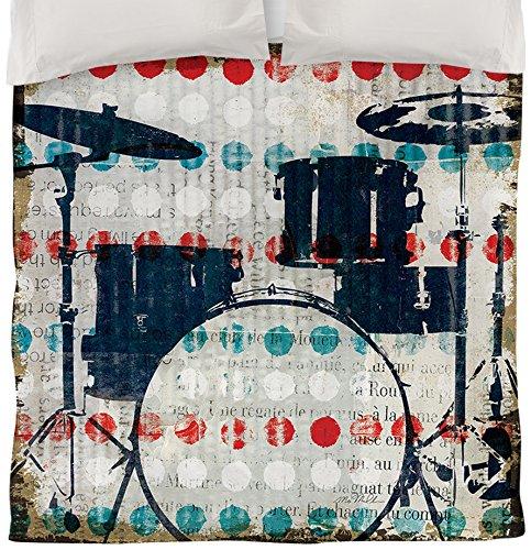 Thumbprintz Duvet Cover, Twin, British Invasion Drums front-464998
