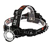CrazyFire LED Headlamp, Super Bright Headlamp Headlight Flashlight, 3 Modes Zoomable Headlamps for Runing,Hiking,Camping,Fishing,Hunting(Black) (Color: 3 Modes Zoomable Headlamp-Black)