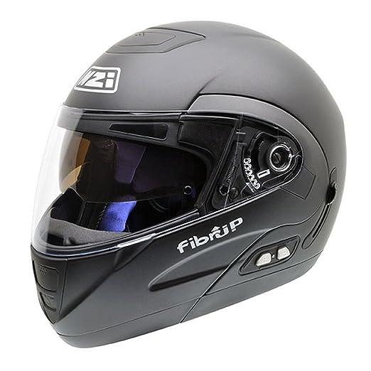 NZI 010220G143 Fibrup Matt Black PH, Casque de Moto, Taille XXL Noir