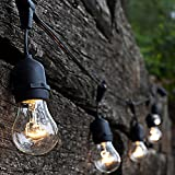 Outdoor Lighting 48 Foot Outdoor Cafe Lights By Vector. Café Style Outdoor String Lights Are Weatherproof Commercial Grade Quality Café/Bistro Style Lighting Great For All Year All Weather Ambience
