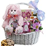 Art of Appreciation Gift Baskets   My Special Bunny Easter Basket, Pink or Purple Rabbit