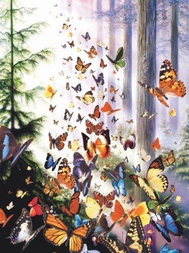 Puzzle 3000 Teile – Schmetterlinge im Wald –