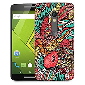 Snoogg vector seamless texture with abstract flowers endless background ethnic sea Designer Protective Back Case Cover For Motorola Moto G4
