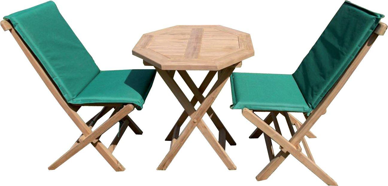 Tavolo ott.60+2 sedie teak c/c - Gartenarbeit Gartenmöbel G