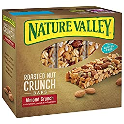 Nature Valley Gluten Free Almond Crunch Roasted Nut Crunch Bars,  6 - 1.24 oz (Pack of 6)