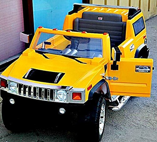 electric battery operated ride on car for kids hummer h2 model 1206 yellow little kid cars