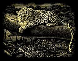 Reeves Coperfoil 10x8 Leopard Resting on Tree