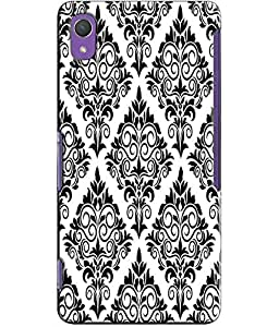 EU4IA Black And White Arabesque Pattern MATTE FINISH 3D Back Cover Case For S...