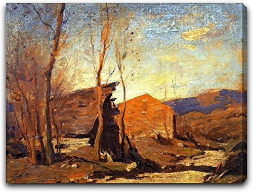 Late Autumn Afternoon by George M Bruestle