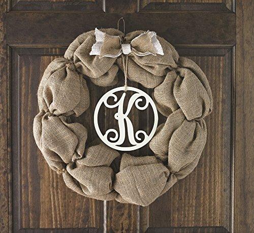 Mud Pie Initial Burlap Wreath (G) - 1