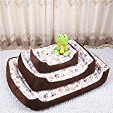 T2C Thickened Corduroy Washable Dog Bed Cuddler & Lounge with Solid Memory Cotton for Warm Keeping in Cold Winter With a 2 Sides Usable Pad.(Red,Beige,Coffee)