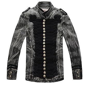 Lapel Denim Jacket Fashion Chaqueta at Amazon Men's Clothing store