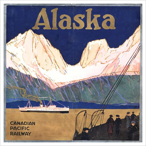 Alaska (Canadian Pacific) Vintage Art Poster Print
