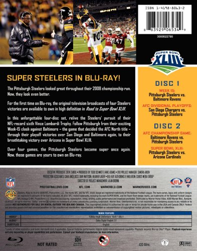 Nfl Pittsburgh Steelers - Road To XLIII Blu-ray from SteelerMania