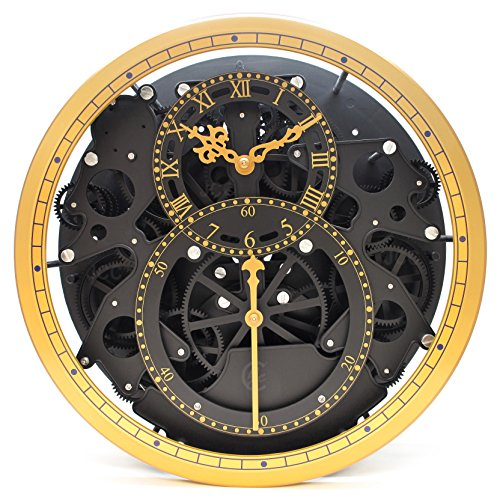 wall clock retro modern decor mechanical moving gear