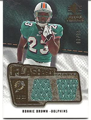 Ronnie Brown 2008 SP Rookie Threads Flashback Fabrics Jersey Card 35/60 #FFRO Miami Dolphins