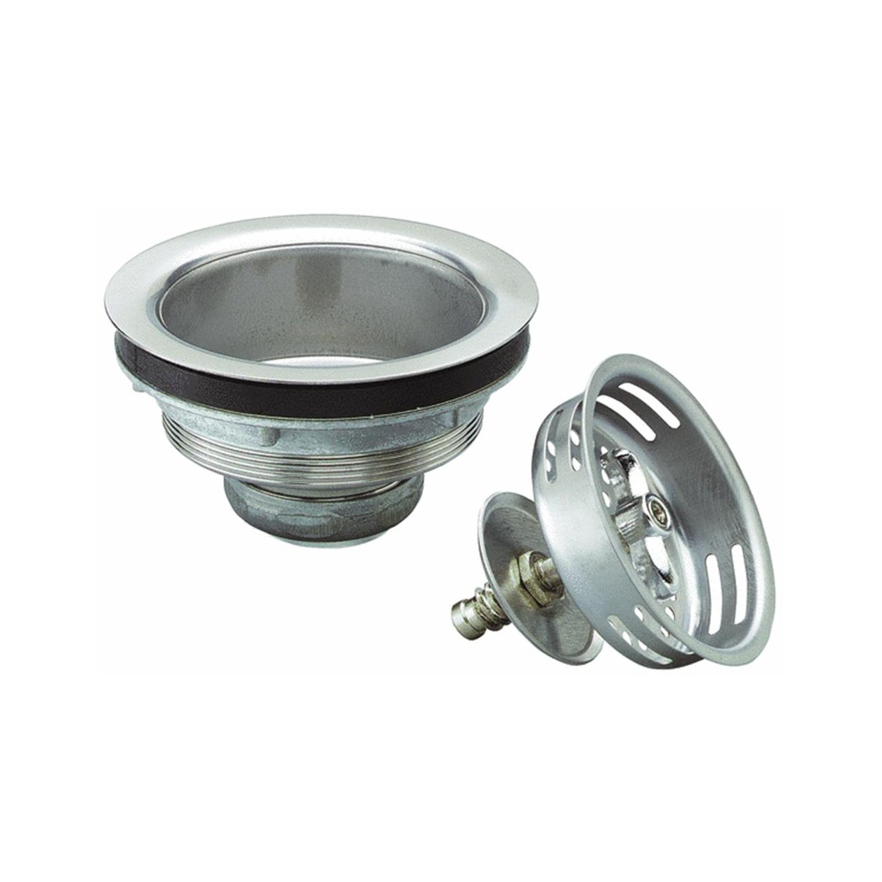 Keeney 1433SS Sink Strainer with Turn 2 Seal Basket