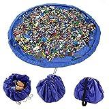 E Support? XL 150cm Ni�os port�tiles Juguetes bolsa de almacenamiento Jugar Toy Box Alfombra Organizador Organizador del almacenaje de Lego Juguetes Mu�ecas