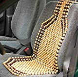 """★The Zento Deals Wood Beaded Comfort Seat Cushion gently massages your back and legs while you drive. Although wood is not much of a """"cushion"""" many users swear by the Ventilation of a beaded car seat cushion and others the Subtle """"Massage"""" pr..."""