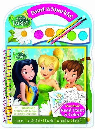 Bendon Disney Fairies Paint and Sparkle Activity Book