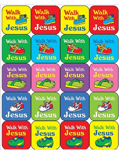 Teacher Created Resources Walk With Jesus Stickers, Multi Color (7008) - 1