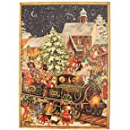 Vintage Train Advent Calendar Card