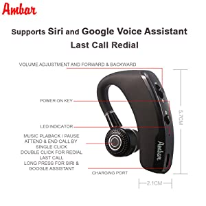 Wireless Bluetooth Earpiece - Smart True Wireless Headset V4 1+EDR
