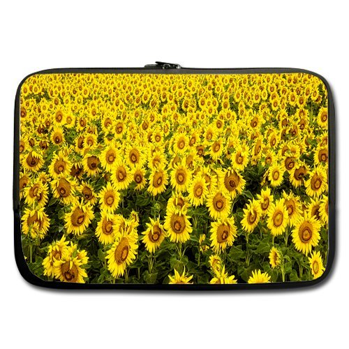Anhome Vast Sunflower Field Beautiful Sea Of Flowers Sleeve For Macbook Pro / Sleeve For Laptop / Notebook Computer / Macbook / Macbook Pro / Macbook Air 11'' front-1045395